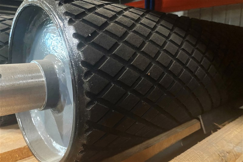 drive pulley rubber-lined